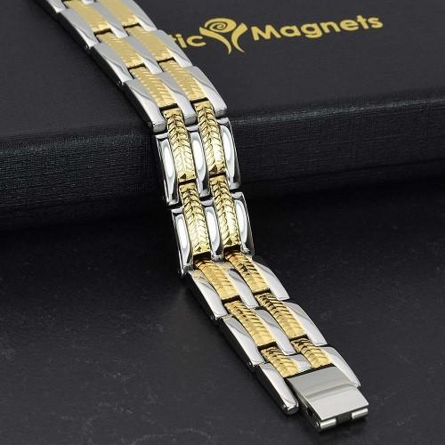 mens premium stainless steal bracelet healing golf bracelet