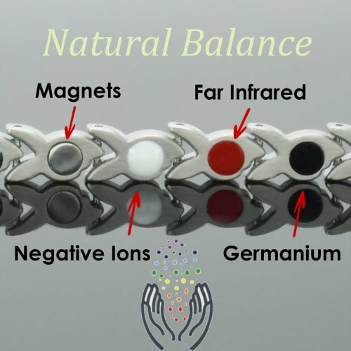 4 in 1 Womens Magnetic Bracelet with Negative Ions, Infra-Red and Germanium Elements – SB4