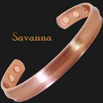 Copper Magnetic Bracelet Bangle for Pain Health Bracelet Wristband - Savanna