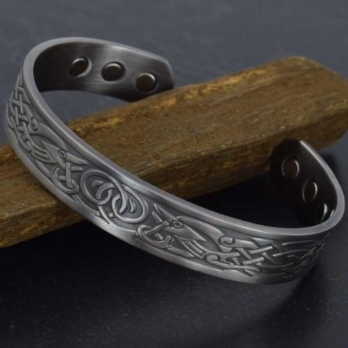 magnetic therapy bracelet copper bracelet men magnetic wristband therapy bracelet bangle viking bracelet vgp