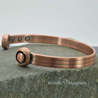 Mens Copper Magnetic Bracelet for Arthritis Therapeutic Bracelet Wristband for Pain Extra Strenght Magnets – XXL Size