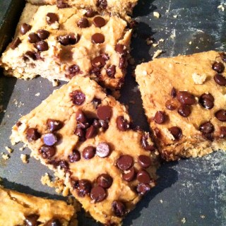 Chocolate Chip Peanut Butter Bean Bars