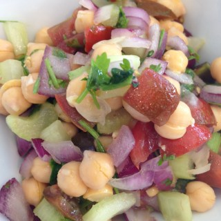 herbaceous garbanzo bean salad