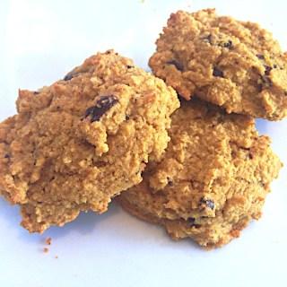 pumpkin carob chip cookies