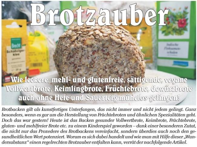 Brot backen - ganz einfach - ohne Mehl, Sauerteig oder Hefe