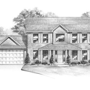Shaded Graphite Rendering of Model Home