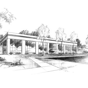 Graphite Rendering of Corporate Office