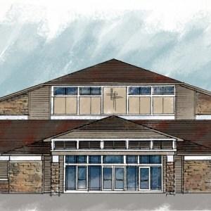 Design Sketch of Proposed Church Facade