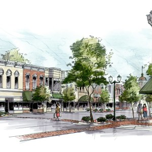 Proposed Concept Sketch of Downtown Revitalization Project