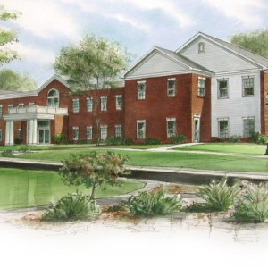 Full Color Rendering of College Campus Housing