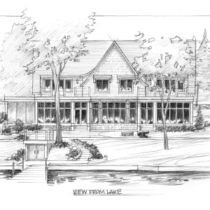 Graphite Sketch of Proposed Lake House