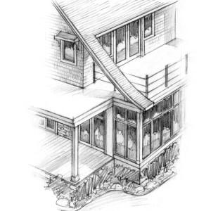 Detail Sketch of Lake House