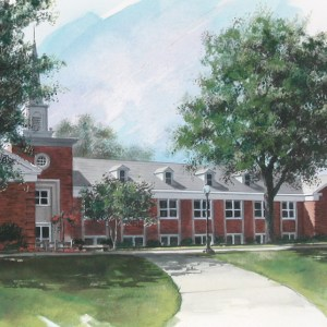 Full Color Rendering of College Administration Building
