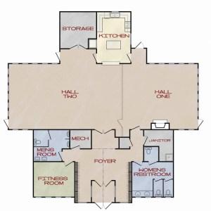 Color Enhanced Floor Plan