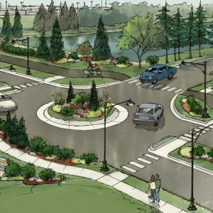 Concept Sketch for Proposed Industrial Park Traffic Circle