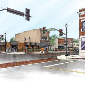 Color Rendering of Downtown Revitalization Grant Proposal