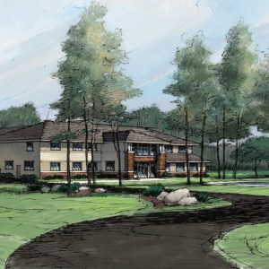 Rendering of Corporate Offices for Shareholder Presentation