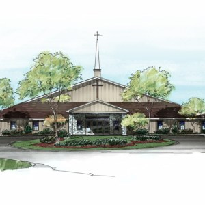 Enhanced Full Color Elevation of Proposed Church