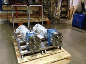 Waukesha U1 Pumps on Portable Bases