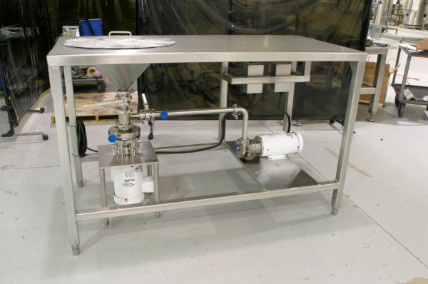 DTL Sanitary Blender Incorporated with a Stainless Steel Table Assembly