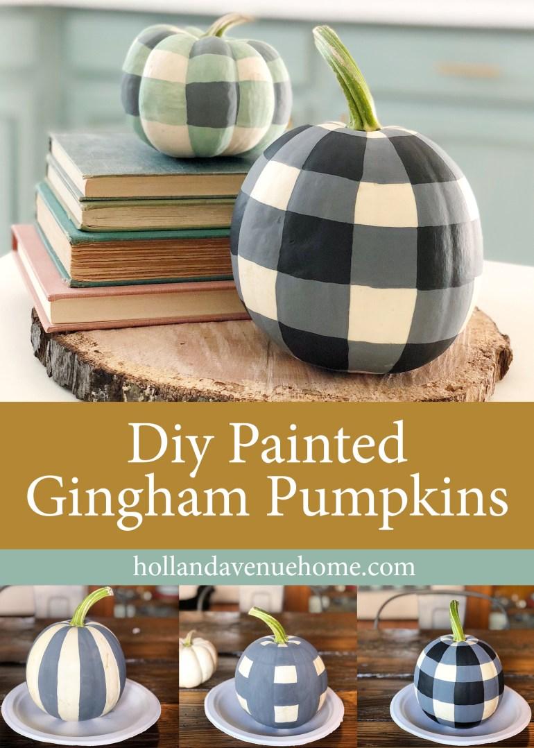 pinterest gingham pumpkins