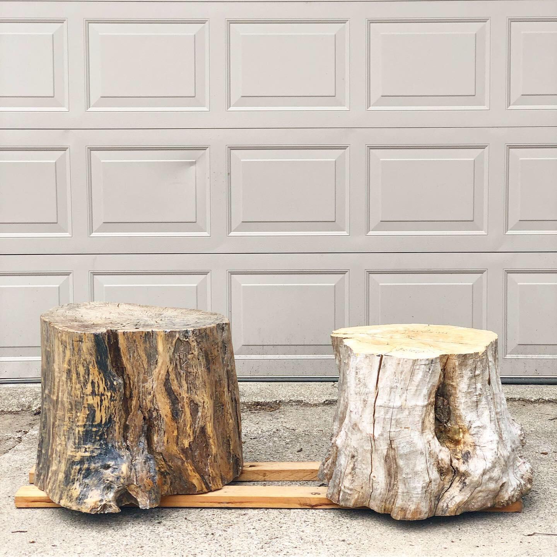 diy tree stump coffee tables one room