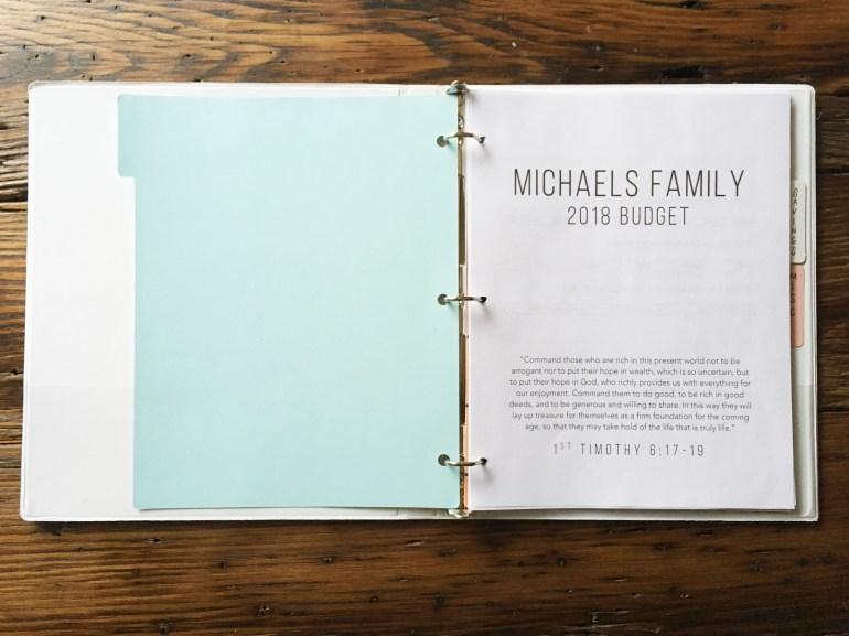 Simple Budget Binder Printables (2018)
