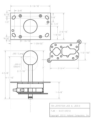 Arcade Joystick Switchable from 8way to 4way operation