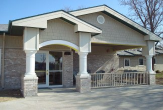 The Prairie Creek Assisted Living facility in West Bend, IA, built in Spring 2009.