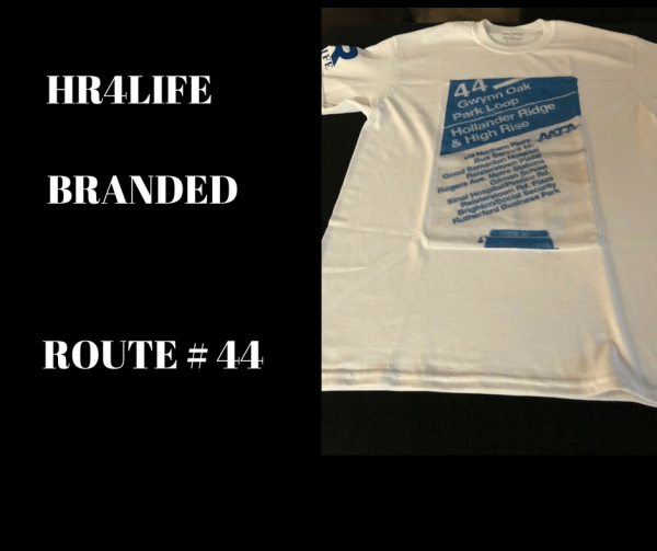 Route 44 bus stop custom T-shirt