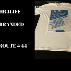 Route 44 bus stop custom T-shirt