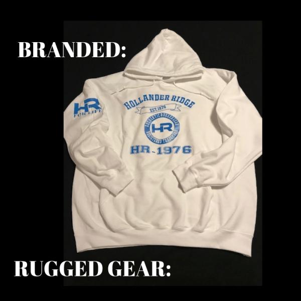 Rugged Gear White Hood Jacket