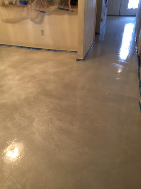 Decorative Stained Concrete Flooring in Plano TX