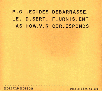 With Hidden Noises CD cover