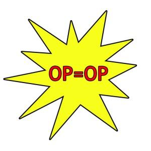 opruiming op = op