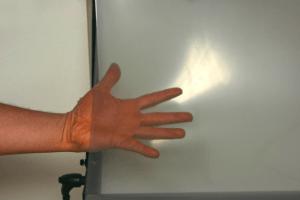 Transparent EMI shielding copper grid PET film light transmission transparency