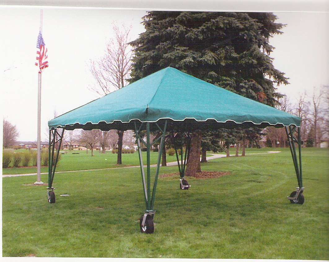 steel chair for tent house striped covers roll around holland supply inc