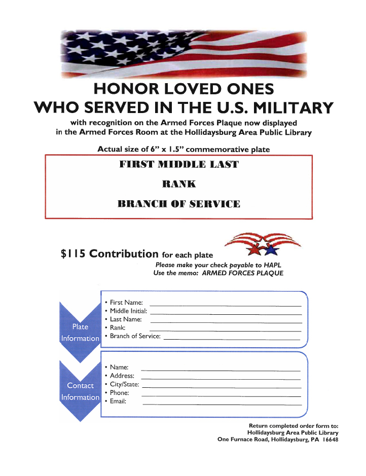 Military plaque flyer