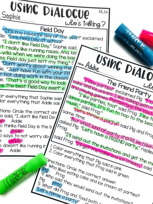 small resolution of Teaching Dialogue and Point of View   Hollie Griffith