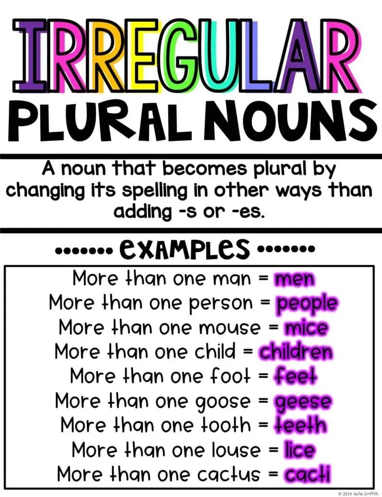 hight resolution of Teaching Irregular Plural Nouns   Hollie Griffith