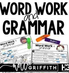 Word Work and Grammar Review Worksheets   Hollie Griffith [ 1024 x 1024 Pixel ]
