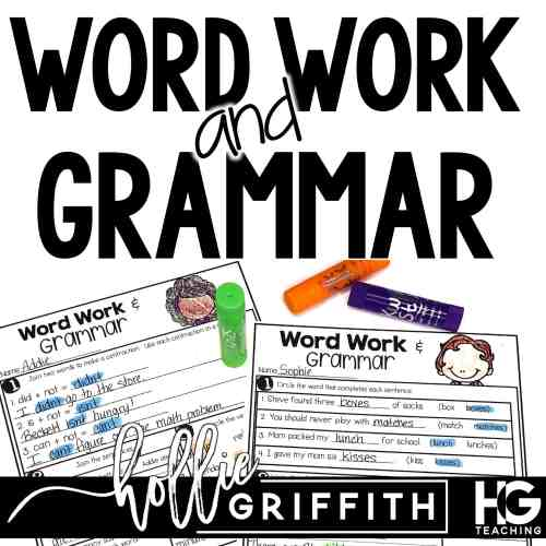small resolution of Word Work and Grammar Review Worksheets   Hollie Griffith
