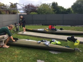 Scott and I getting our gear sorted. Image: Scottie