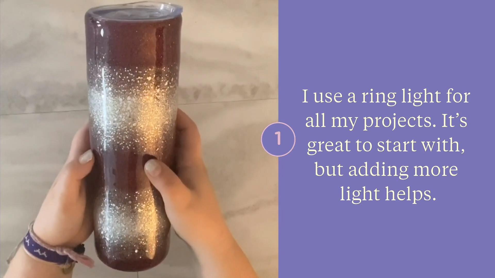 Use a ring light for good lighting beginner lighting tips for photo and video