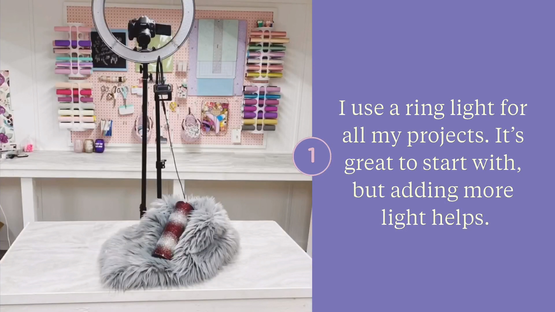 Use a ring light beginner lighting tips for photo and video