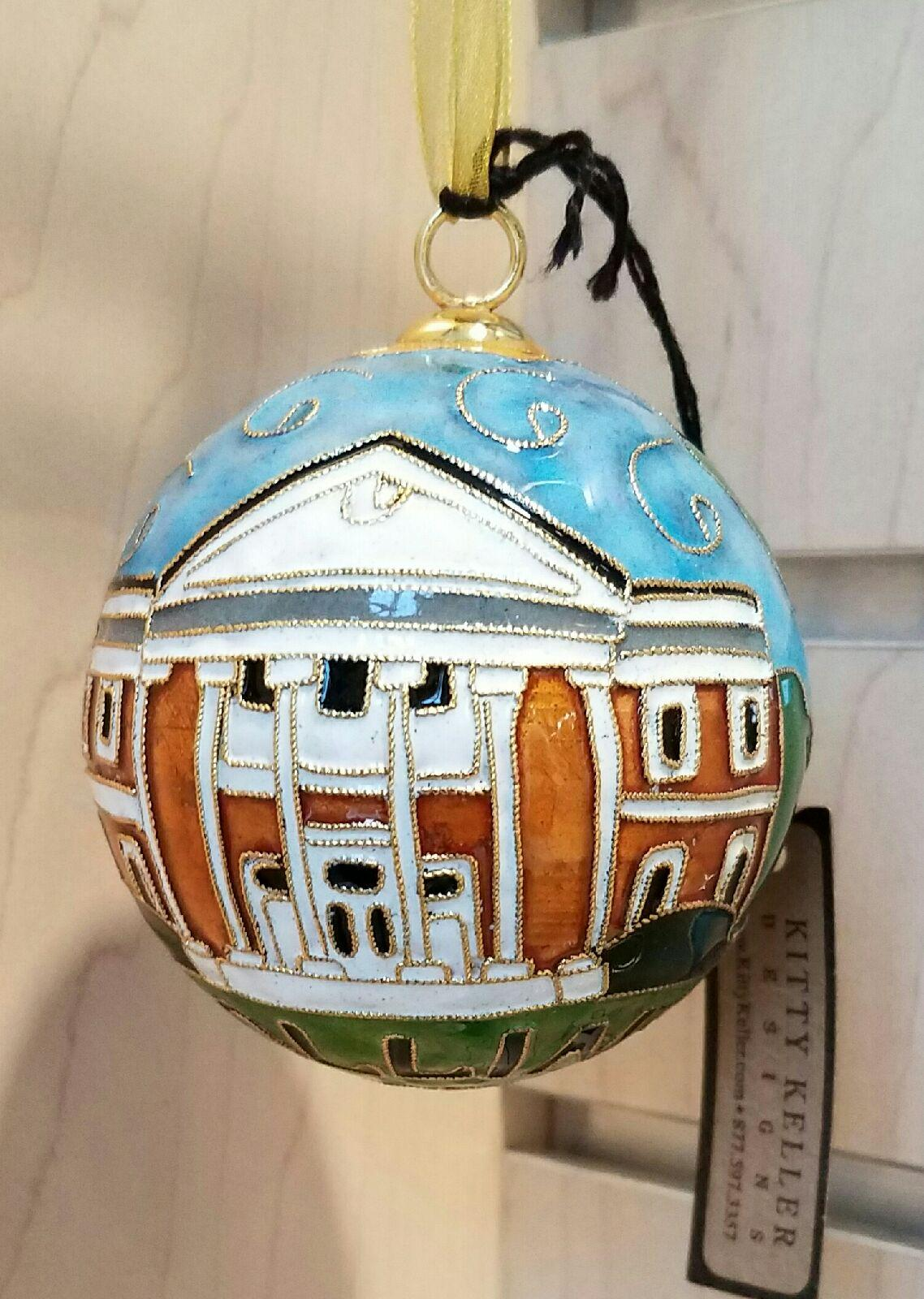Cloisonne Ball Ornament -Cocke Building