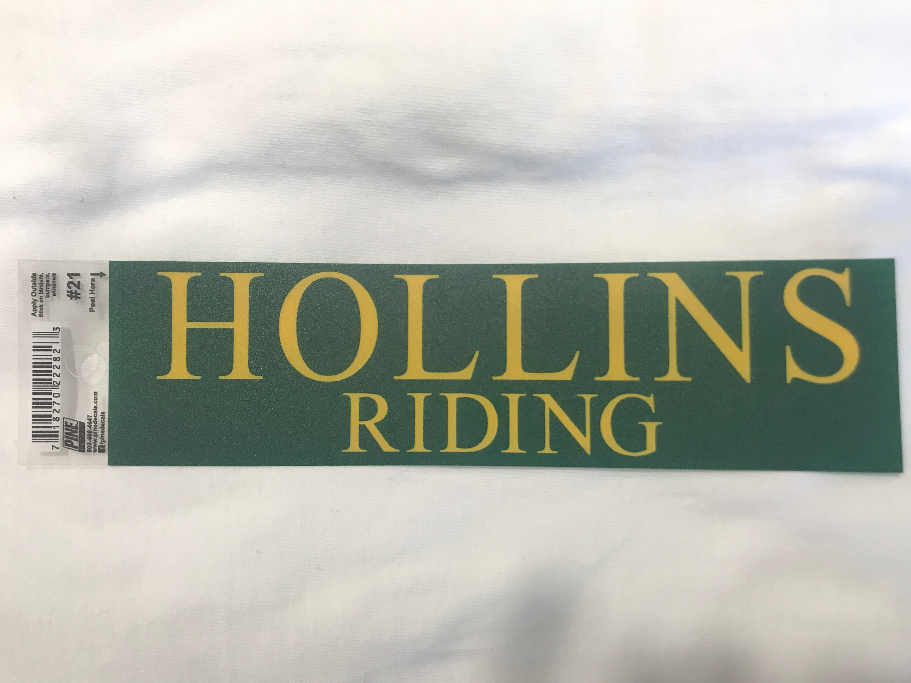 Hollins Riding Decal