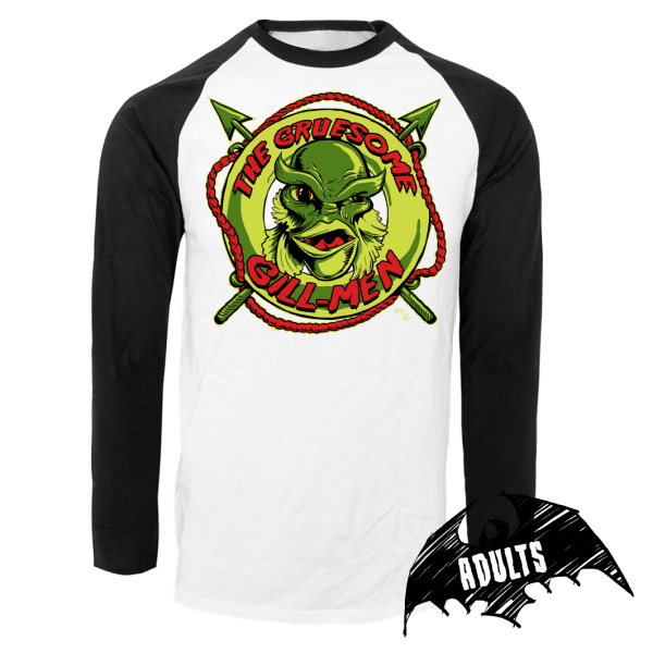 The Gruesome Gill-Men Baseball T-Shirt