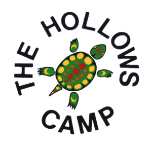 The Hollows Camp painted turtle logo