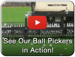 Commercial duty golf ball picker video